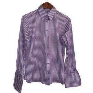 Pink Thomas Pink striped button front dress shirt
